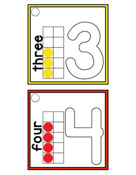 0-10 Mini Play Clay Mat Flip Book