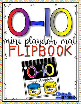 0-10 Mini Play Clay Mat Flip Book