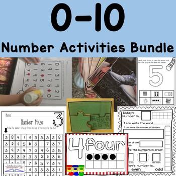 0-10 Number Activities Bundle