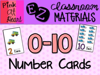 0-10 Number Cards
