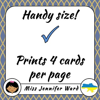 0-10 Number Flash Cards in Ukrainian