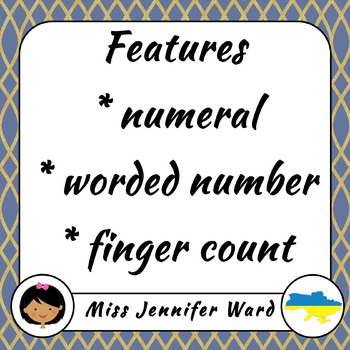 0-10 Number Flash Cards in Ukrainian (Blackline)