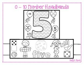 0 - 10 Number Headbands