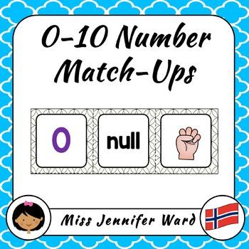 0-10 Number Match-Up in Norwegian