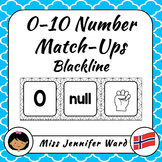 0-10 Number Match-Up in Norwegian (Blackline)