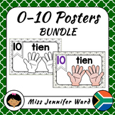 0-10 Number Posters in Afrikaans BUNDLE