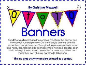 0-10 Number Sense Banners