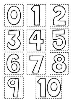 0-10 Number book- SPANISH