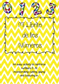 0-10 Number book- SPANISH