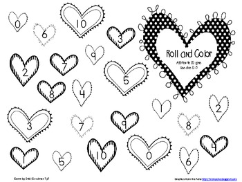 0-10 Roll and Color Addition Game