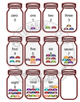 0-10 Spider Counting Jars