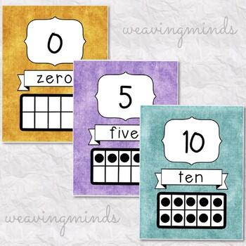0-10 Ten Frame Cards