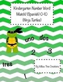 0-10 Word-Number Match Ninja Turtle Themed! (Spanish Version)