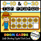 0-10 and 0-20 Fall Themed Ten Frames {Boom Cards} {By Classroom Pizzazz}
