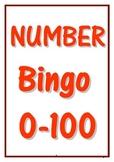 0-100 NUMBER BINGO