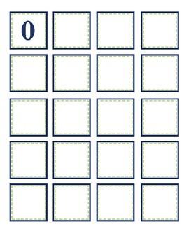 0-100 Printable Numbers | Navy and Lime Green (EDITABLE)