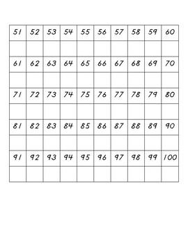 0-100 Writing Practice Page