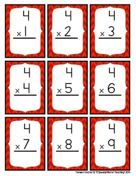 photograph about Printable Multiplication Flash Cards 0-12 named 0-12 Multiplication Flash Playing cards double sided shade coded