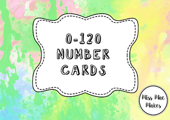 0-120 NUMBER CARDS