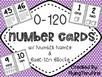 0-120 Number Cards {w/Base 10 Blocks}