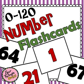 0-120 Number Flashcards