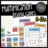 0-12x Multiplication Review Games: Bingo and Bump-and-Freeze