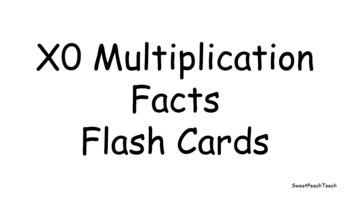 0, 1s, & 2s Multiplication Fact Flashcards