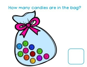 0-20 Counting Candies Book and Worksheets