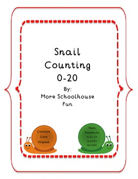 0-20 Counting Practice Pages-Common Core Aligned