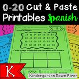 0-20 Cut and Paste Number Printables {Spanish} Representar Números {TEKS/CCSS}
