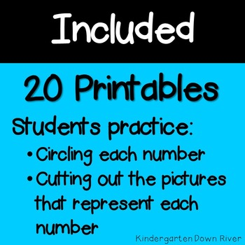 0-20 Cut and Paste Number Printables {TEKS/CCSS}