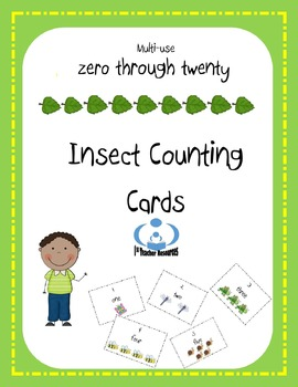 0 - 20 Insect Number and Number Words Cards