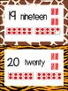 0-20 Jungle/Safari Ten Frame Posters