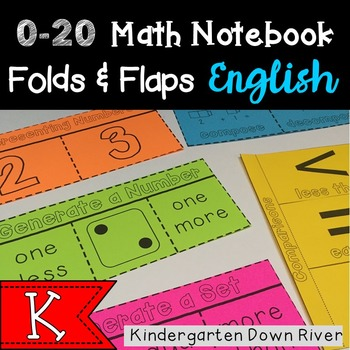 0-20 Math Notebook Folds and Flaps- Representing Numbers {TEKS/CCSS}