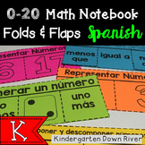 0-20 Math Notebook Folds and Flaps {Spanish} Representar Números {TEKS/CCSS}