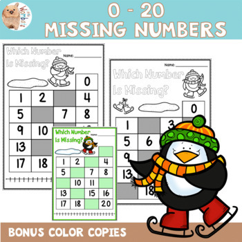 0 - 20 Missing Numbers Printables - Differentiated