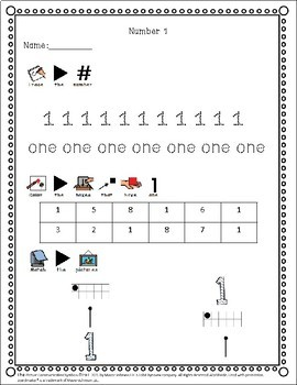 0-20 Numbers Worksheet for Special Education