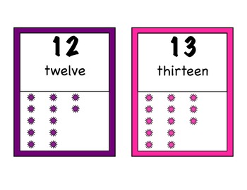 0-20 Number Cards