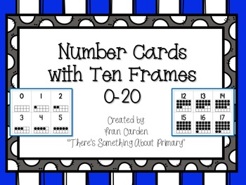 0-20 Number Cards with Ten Frames