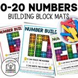 0-20 Number Lego Worksheets and Flash Cards