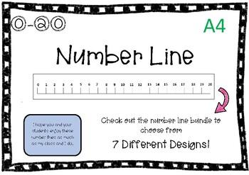 0-20 Number Line