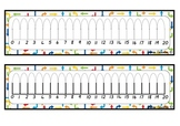 0 - 20 Number Lines - Set of 10 Themes