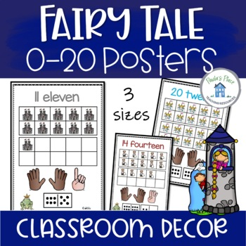 0-20 Number Posters - Fairy Tale Theme