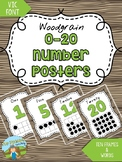 0-20 Number Posters {WOODGRAIN}