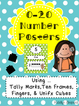 0-20 Number Posters With Visuals!