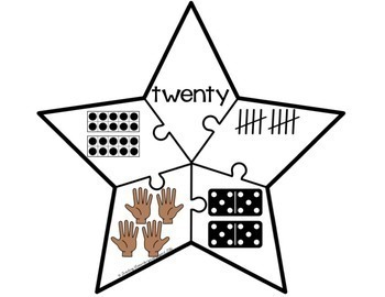 0 - 20 Number Recognition Math Puzzles