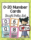 0-20 Number Signs in Bright Polka Dot