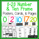 0-20 Number & Ten Frame Posters, Cards, & Practice Pages   Distance Learning