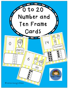 0-20 Number and Ten Frame Cards