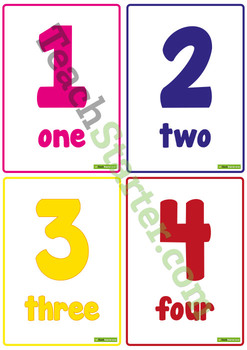 0-20 Number and Word Posters